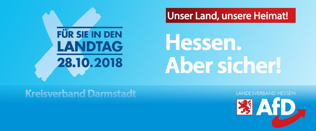 Hessen. Aber Sicher! Das AfD Wahlprogramm zur Landtagswahl am 28.10
