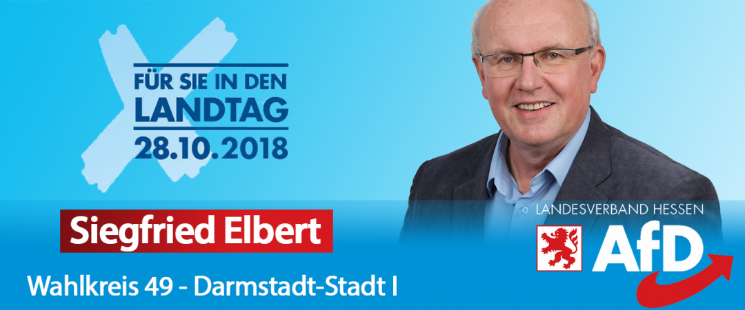 Siegfried Elbert - AfD Direktkandidat für Darmstadt I